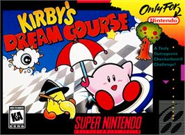 Box cover for Kirby's Dream Course on the Nintendo SNES.