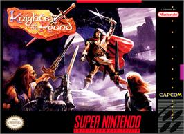 Box cover for Knights of the Round on the Nintendo SNES.