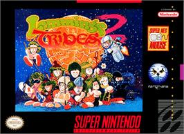 Box cover for Lemmings 2: The Tribes on the Nintendo SNES.