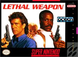 Box cover for Lethal Weapon on the Nintendo SNES.