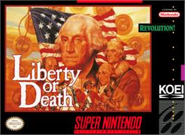 Box cover for Liberty or Death on the Nintendo SNES.