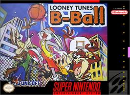 Box cover for Looney Tunes B-Ball on the Nintendo SNES.