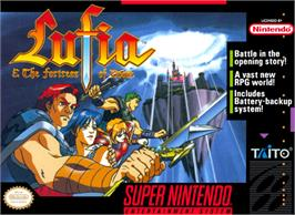 Box cover for Lufia & the Fortress of Doom on the Nintendo SNES.