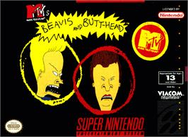 Box cover for MTV's Beavis and Butt-Head on the Nintendo SNES.