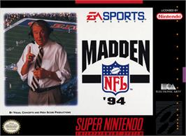 Box cover for Madden NFL '94 on the Nintendo SNES.