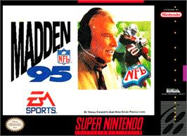 Box cover for Madden NFL '95 on the Nintendo SNES.