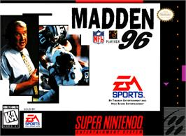 Box cover for Madden NFL '96 on the Nintendo SNES.