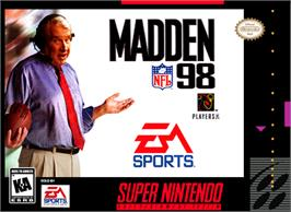 Box cover for Madden NFL '98 on the Nintendo SNES.