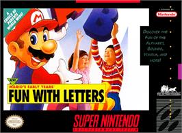 Box cover for Mario's Early Years: Fun With Letters on the Nintendo SNES.