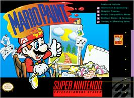 Box cover for Mario Paint on the Nintendo SNES.