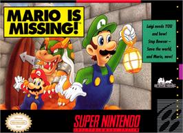 Box cover for Mario is Missing! on the Nintendo SNES.