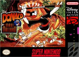 Box cover for Maui Mallard in Cold Shadow on the Nintendo SNES.