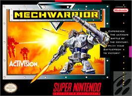 Box cover for MechWarrior on the Nintendo SNES.