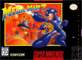 Box cover for Mega Man 7 on the Nintendo SNES.