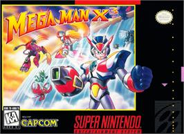 Box cover for Mega Man X3 on the Nintendo SNES.