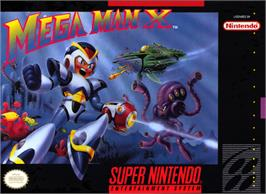 Box cover for Mega Man X on the Nintendo SNES.