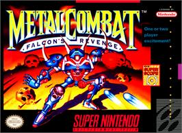 Box cover for Metal Combat: Falcon's Revenge on the Nintendo SNES.