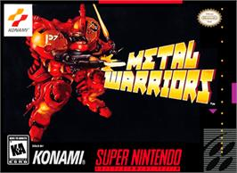 Box cover for Metal Warriors on the Nintendo SNES.