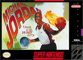 Box cover for Michael Jordan:  Chaos in the Windy City on the Nintendo SNES.