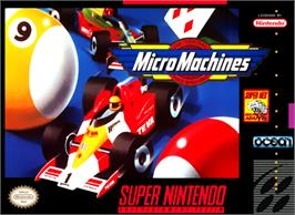 Box cover for Micro Machines on the Nintendo SNES.