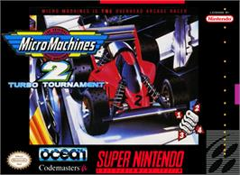 Box cover for Micro Machines 2: Turbo Tournament on the Nintendo SNES.