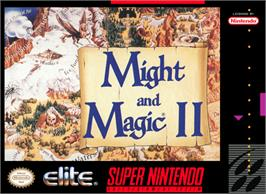 Box cover for Might and Magic II: Gates to Another World on the Nintendo SNES.
