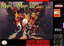 Box cover for Might and Magic III: Isles of Terra on the Nintendo SNES.