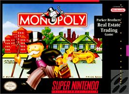 Box cover for Monopoly on the Nintendo SNES.