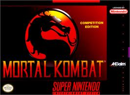 Box cover for Mortal Kombat on the Nintendo SNES.