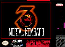 Box cover for Mortal Kombat 3 on the Nintendo SNES.