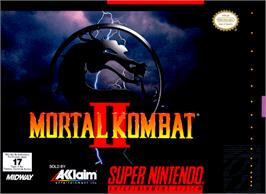 Box cover for Mortal Kombat II on the Nintendo SNES.