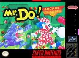 Box cover for Mr. Do! on the Nintendo SNES.