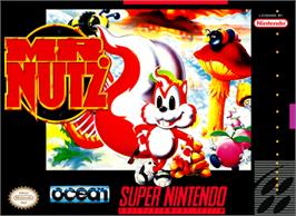 Box cover for Mr. Nutz on the Nintendo SNES.