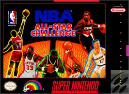 Box cover for NBA All-Star Challenge on the Nintendo SNES.