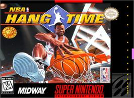 Box cover for NBA Hang Time on the Nintendo SNES.