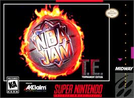 Box cover for NBA Jam Tournament Edition on the Nintendo SNES.