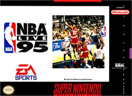 Box cover for NBA Live '95 on the Nintendo SNES.