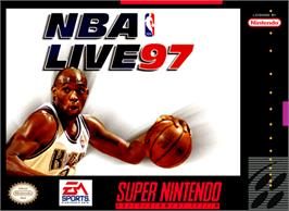 Box cover for NBA Live '97 on the Nintendo SNES.