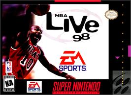 Box cover for NBA Live '98 on the Nintendo SNES.