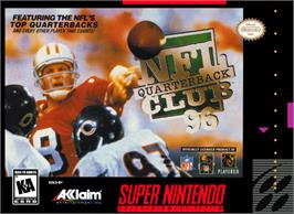 Box cover for NFL Quarterback Club '96 on the Nintendo SNES.