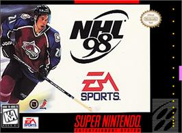 Box cover for NHL '98 on the Nintendo SNES.