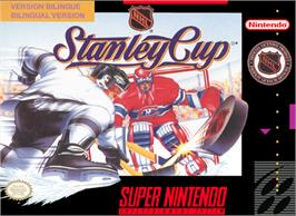 Box cover for NHL Stanley Cup on the Nintendo SNES.