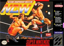 Box cover for Natsume Championship Wrestling on the Nintendo SNES.