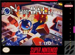 Box cover for On the Ball on the Nintendo SNES.