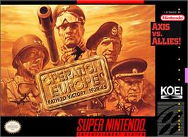 Box cover for Operation Europe: Path to Victory 1939-45 on the Nintendo SNES.