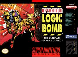 Box cover for Operation Logic Bomb on the Nintendo SNES.