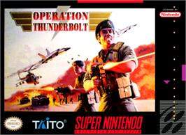 Box cover for Operation Thunderbolt on the Nintendo SNES.