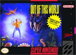 Box cover for Out of This World on the Nintendo SNES.