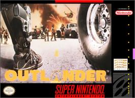 Box cover for Outlander on the Nintendo SNES.