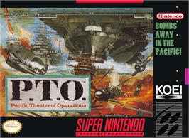 Box cover for P.T.O.: Pacific Theater of Operations on the Nintendo SNES.